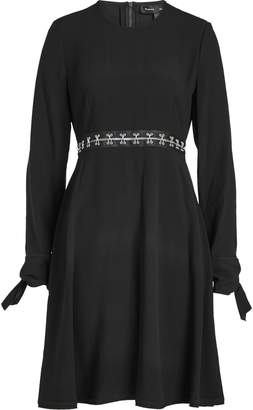 Proenza Schouler Crepe Dress with Embellished Waist