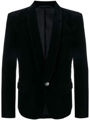 Balmain single-buttoned velvet blazer