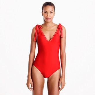 Shoulder-tie one-piece swimsuit $98 thestylecure.com