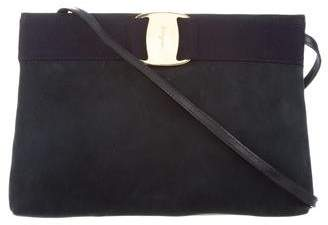 Pre Owned At Therealreal Salvatore Ferragamo Suede Crossbody Bag