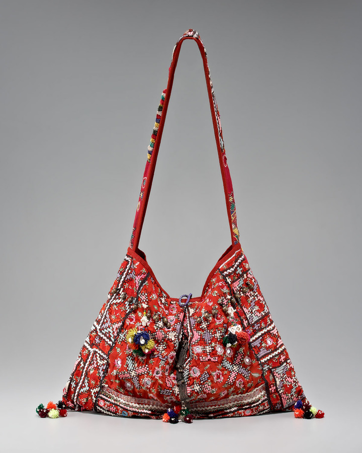 Kate Hudson Printed Embroidered Hobo Bag | POPSUGAR Fashion