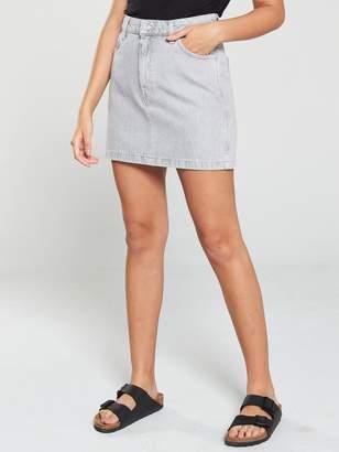 5cd042d666 MANGO 5 Pocket Denim Mini Skirt - Grey