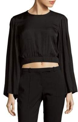 Elizabeth and James Ava Full Pleated Bell Sleeve Top