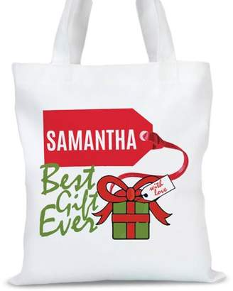 """Monogram Online Custom Best Gift Ever Tote Bag, Sizes 11"""" x 11.75"""" and 15"""" x 16.25"""""""