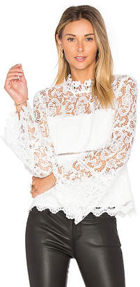 Bardot x REVOLVE Sansa Lace Top in White $98 thestylecure.com