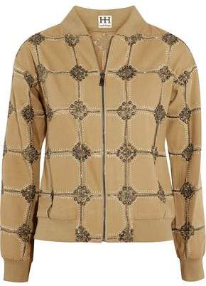 Haute Hippie Believe Belive In Me Better Me Embellished Cotton Jacket
