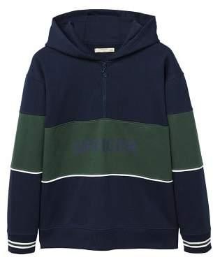 Mango man MANGO MAN Contrasting panels hooded sweatshirt