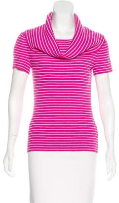St. John Striped Short Sleeve Top
