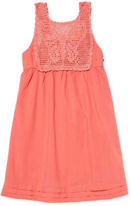 SAM. Zoe & Solid Cotton Dress - Orange, Size 12-14y