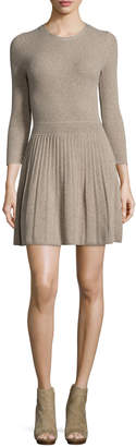 Joie Peronne Ribbed Fit & Flare Dress