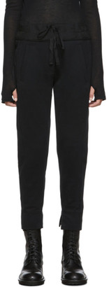 Ann Demeulemeester Black Wide Band Lounge Pants