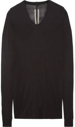 Rick Owens - Stretch-jersey Top - Black $405 thestylecure.com