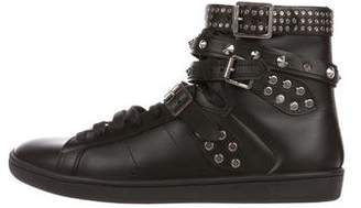 Saint Laurent Studded High-Top Sneakers