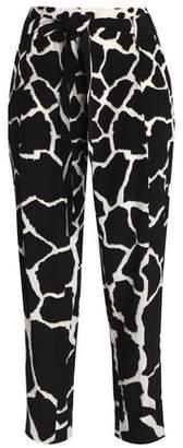 Roberto Cavalli Printed Silk Tapered Pants