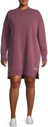 Calvin Klein Plus Logo Cotton Sweater Dress
