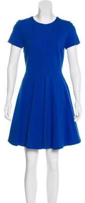 Diane von Furstenberg Short Sleeve Fit and Flare Dress