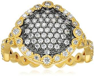 Freida Rothman Two Tone Pave Disc Ring
