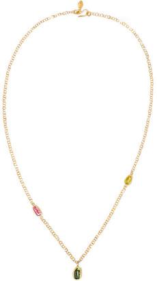 Pippa Small - 18-karat Gold Tourmaline Necklace $1,295 thestylecure.com