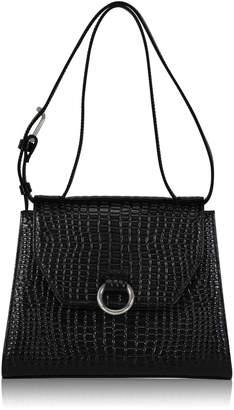 Joanna Maxham Lady O Black Crocodile Shoulder Bag
