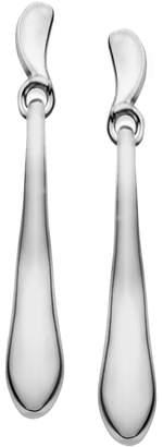 Nambe Sterling Silver Wavy Drop Earrings