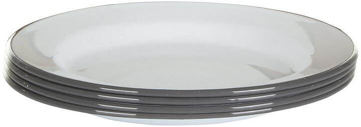 Falcon Plate Set - Set of 4 - Pigeon Grey rim