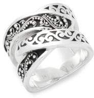 Lois Hill Carved Sterling Silver Ring