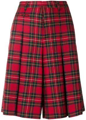 R 13 tartan knee-length shorts