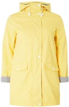 Dorothy Perkins Womens Yellow Button Front Raincoat