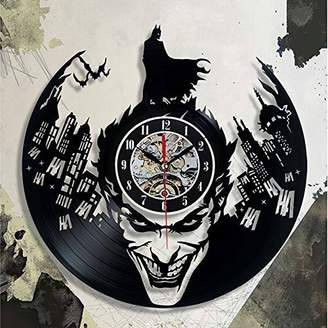 Christian Dior Shinestore Super Cool Hot Vinyl Record Concept Wall Clock Batman Theme Vinyl Clocks Horloge Murale Decorative Modern design
