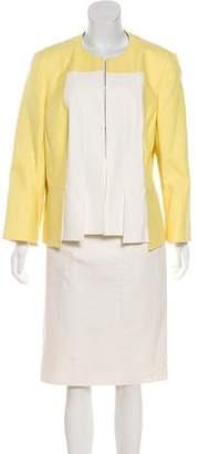 Akris Collarless Knee-Length Skirt Suit