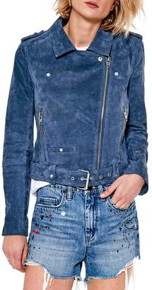 Blank NYC Real Suede Blue Jacket