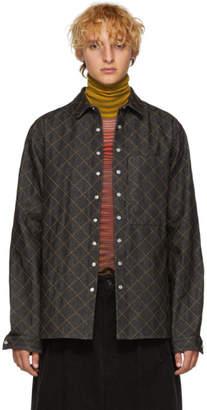 Sunnei Indigo Denim Quilted Jacket