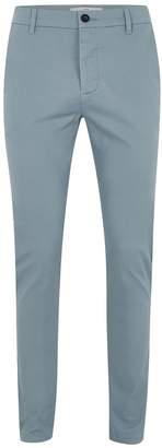 Topman Slate Blue Stretch Skinny Chinos