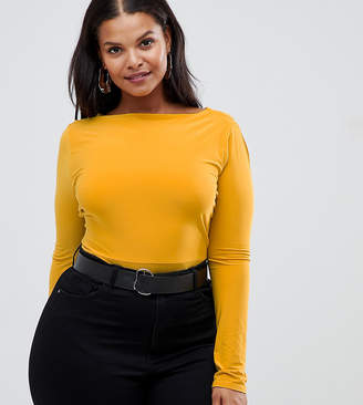 Asos Outrageous Fortune Plus cross back body in mustard