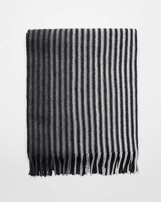 Express Merino Wool Blend Striped Scarf