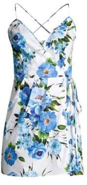 Milly Rose Print Wrap Dress
