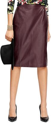 Leather Pencil Skirt $498 thestylecure.com