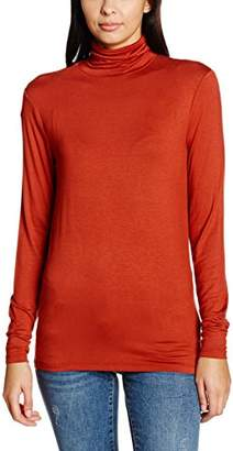 Soaked In Luxury Women's Elisse Turtleneck Plain Long Sleeve Jumper,Small