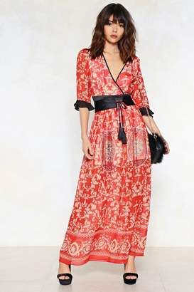 Nasty Gal Feeling Baroque Maxi Dress