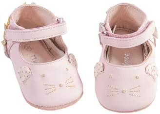 Moulin Roty Il Etait Une Fois Pink Leather Bootees, Ages 12/18 Months