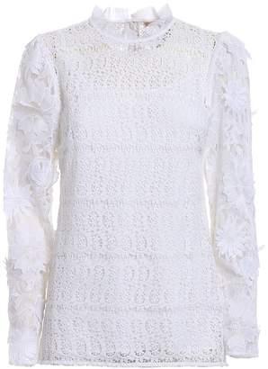 MICHAEL Michael Kors See-through Lace White Blouse