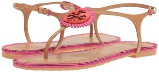 Tory Burch - Miller Fringe Flat Sandal Women's Sandals $225 thestylecure.com