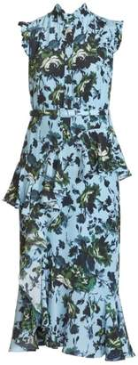 Erdem Irina Floral Silk Midi Dress
