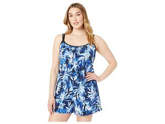 25706f7cd5e Maxine Of Hollywood Swimwear Plus Size In the Navy Swim Romper One-Piece