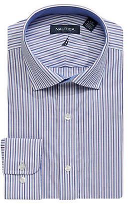 Nautica Slim-Fit Striped Cotton Dress Shirt