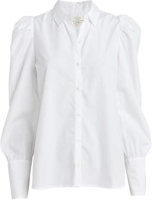 Birds of Paradis Puff Sleeve Poplin Shirt