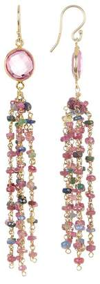 Forever Creations USA Inc. 14K Gold Vermeil Tourmaline Chain Fringe Earrings