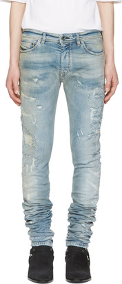 Diesel Black Gold Blue Distressed Sexy Jeans $395 thestylecure.com