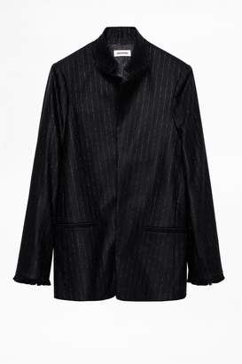 Zadig & Voltaire Zadig Voltaire Volly Stripes Franges Jacket