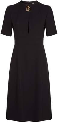 Burberry Silk-Wool Midi Dress